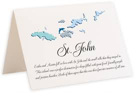 Table Name Cards by Enlarged Map Of The Virgin Islands Memorabilia Table Name Cards