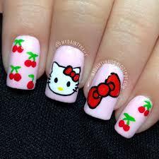 my dainty nails hello kitty nails