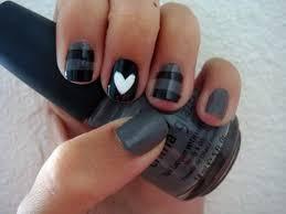simple orange cute nail designs