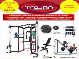 Weights And Bench Package Packages Power Rack Cage Lat Attachment Cable Cross Over Pec Dec