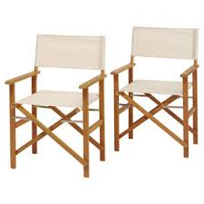 Tesco Armchairs Buy Directors Chair Fsc 2 Pack Taupe From Our Outdoor Chairs