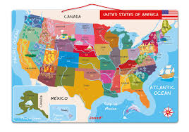 Visited States Map Amazon Com Janod Magnetic Usa Map 19 7 Inches X 13 4 Inches
