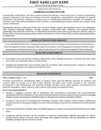 Ministry Resume Templates Communications Resume Template Officer Resume Sle Template
