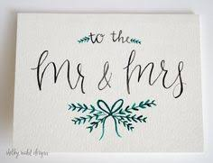 a sweet and simple card to congratulate that new married in