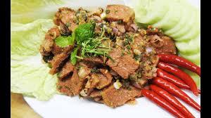 cuisine vegetalienne น ำตกหม ส ตรม งสว ร ต vegan and spicy grilled pork salad vegan
