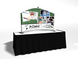 table top banners for trade shows convention table top displays