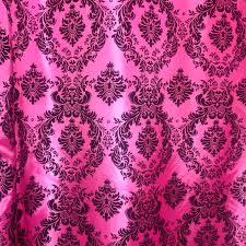 Pink Home Decor Fabric Bright Pink Fabric Taffeta Type Velvet Fabric Privacy Fabric