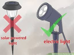 outside lights without electricity 4 ways to choose garden lighting wikihow