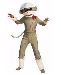 Childrens Animal Halloween Costumes Zombie Sock Monkey Child Costume Kids Costumes