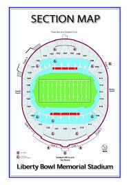 Memphis Map Seatings Memphis Liberty Bowl Memorial
