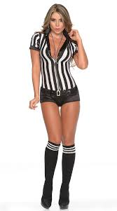 Halloween Cheap Costumes Sequin Referee Costume Referee Costume Cheap Referee