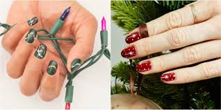 20 amazing and simple nail 32 festive christmas nail art ideas easy designs for holiday nails