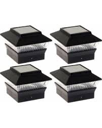 solar powered outdoor l post lights new shopping special 4 pack solar power outdoor garden deck patio