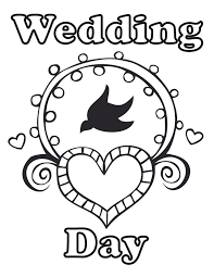 wedding coloring pages kids cool color 3007 unknown