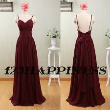 burgundy bridesmaid dress long prom dress from 123happiness on