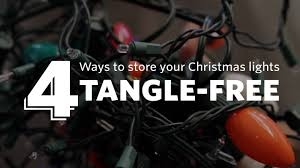 how to store lights tangle free