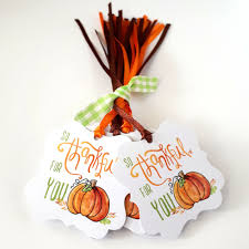 so thankful for you pumpkin tags thanksgiving favor tags set of 24