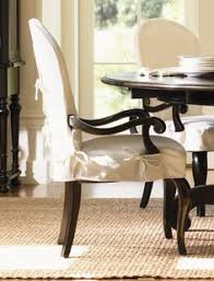 Dining Chair Slipcovers With Arms Chair Slipcovers With Buttoned Tabs Straps To Let The Wood Show