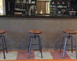 Brown Leather Bar Stool Leather Bar Stools Etsy