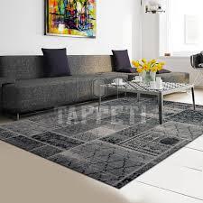 tappeti web loft tappeto moderno cinigliato nero grigio var 25