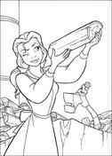belle coloring free printable coloring pages