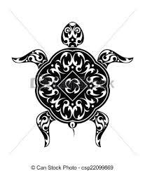 clip art vector of tattoo turtle design vector art csp22099869
