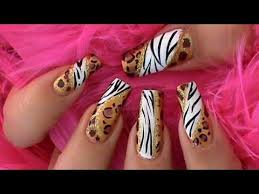 prints africa nail inspired design tutorial