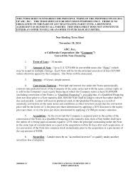 Loan Term Sheet Template Trends In Convertible Note Financings November 18 2014 Silicon Valle