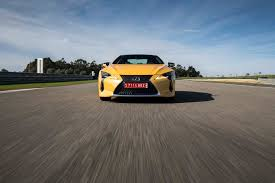 lexus yellow sports car first drive 2018 lexus lc 500 and 500h automobile magazine