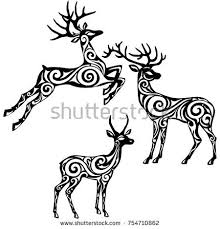 Decoration For Window Deer Decorative Stock Vector 184251278 Shutterstock