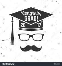 Invitation Card For Graduation Day Vector Congratulations Graduates Class 2017 Badge Stock Vector