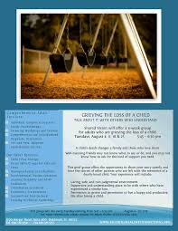 grieving the loss of a child grieving the loss of a child shared vision psychological services