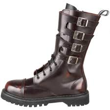 mens leather riding boots demonia attack 10 men mid calf combat burgundy leather boot 1 1 2