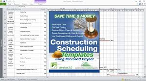 Project Plan Templates Free by Construction Scheduling Templates Using Microsoft Project Youtube