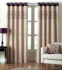 hoops aubergine purple lime green eyelet ring top curtain