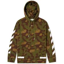 off white diagonals camo hoody camo end