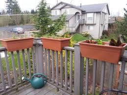 deck railing planter new trend in outdoor decorating u2014 railing