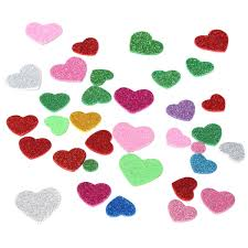 aliexpress com buy glitter shape heart star round flower eva