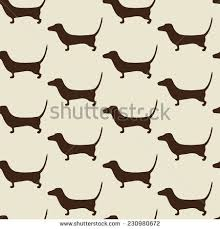 dachshund christmas wrapping paper seamless dachshund pattern repeating brown stock vector