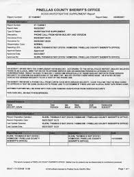 pinellas county sheriff u0027s dept police report of kevin m mulvey 5