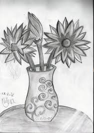flower in vase drawing flowers in a vase by silverwind11 on deviantart