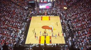 miami heat playing viewed from the worst seats at american