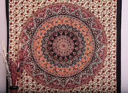 amazon com twin elephant tapestry hippie hippie mural union