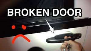 how to fix a stuck door on a toyota previa youtube