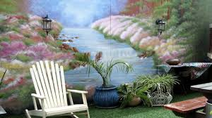 how to decorate a garden fence by wall mural painting youtube how to decorate a garden fence by wall mural painting