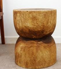 carved wood end table bell end table wood furniture hand carved natural walnut finish