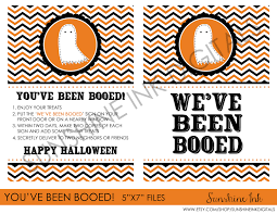 halloween you u0027ve been booed signs in chevron black and