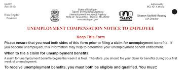 michigan unemployment insurance form and posting govdocs