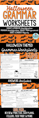 Halloween Mad Libs Esl by Halloween Grammar Worksheets Grammar Worksheets High