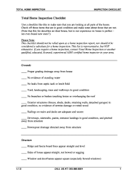 total home inspection checklist forms and templates fillable